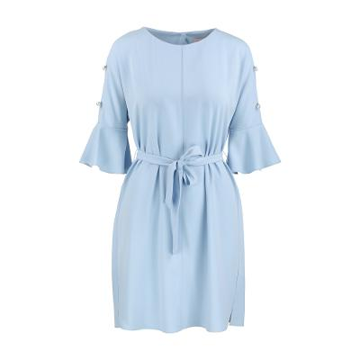 pearl sleeve dress skyblue